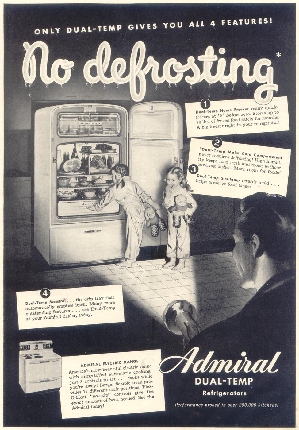 ADMIRAL DUAL-TEMP REFRIGERATORS GOOD HOUSEKEEPING 07/01/1948 p. 17