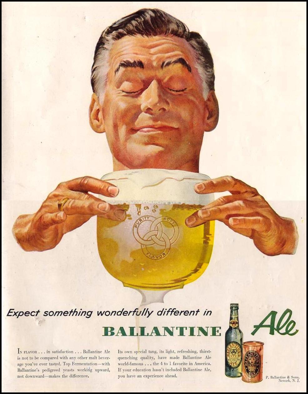 BALLANTINE ALE LIFE 09/07/1953 INSIDE BACK