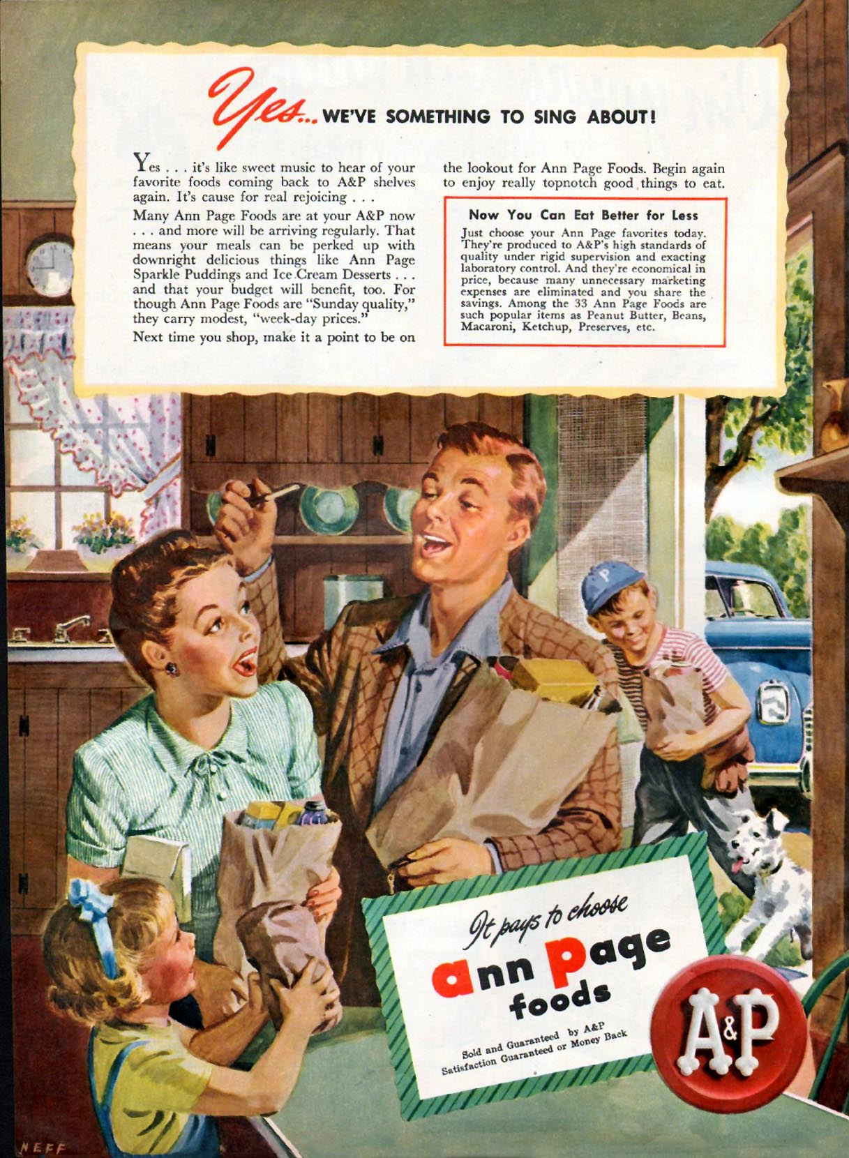 ANN PAGE FOODS WOMAN'S DAY 06/01/1947