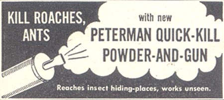 PETERMAN QUICK-KILL POWDER-AND-GUN GOOD HOUSEKEEPING 07/01/1948 p. 230
