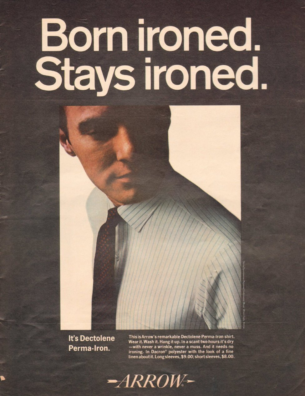 ARROW DECTOLENE PERMA-IRON SHIRT LIFE 11/04/1966