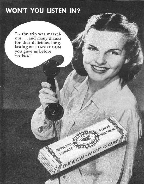 BEECH-NUT CHEWING GUM LIFE 11/25/1946 p. 60