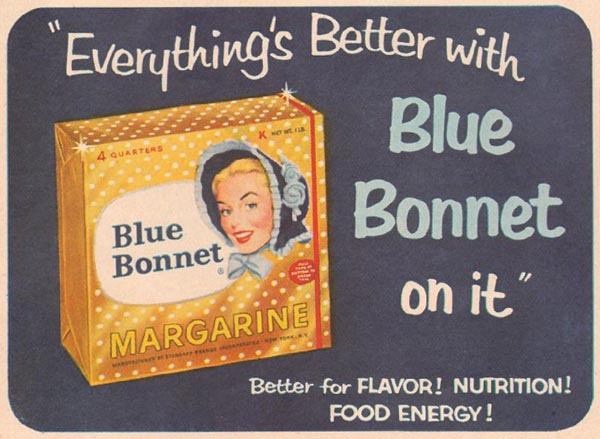 BLUE BONNET MARGARINE GOOD HOUSEKEEPING 05/01/1957 p. 140
