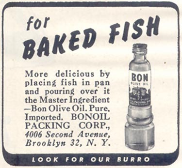 BON OLIVE OIL GOOD HOUSEKEEPING 07/01/1948 p. 158