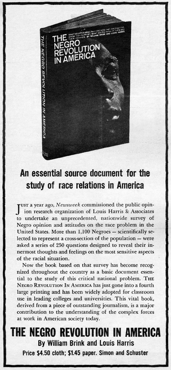 THE NEGRO REVOLUTION IN AMERICA NEWSWEEK 10/12/1964 p. 118