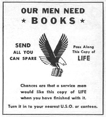 USED BOOKS LIFE 10/25/1943 p. 122