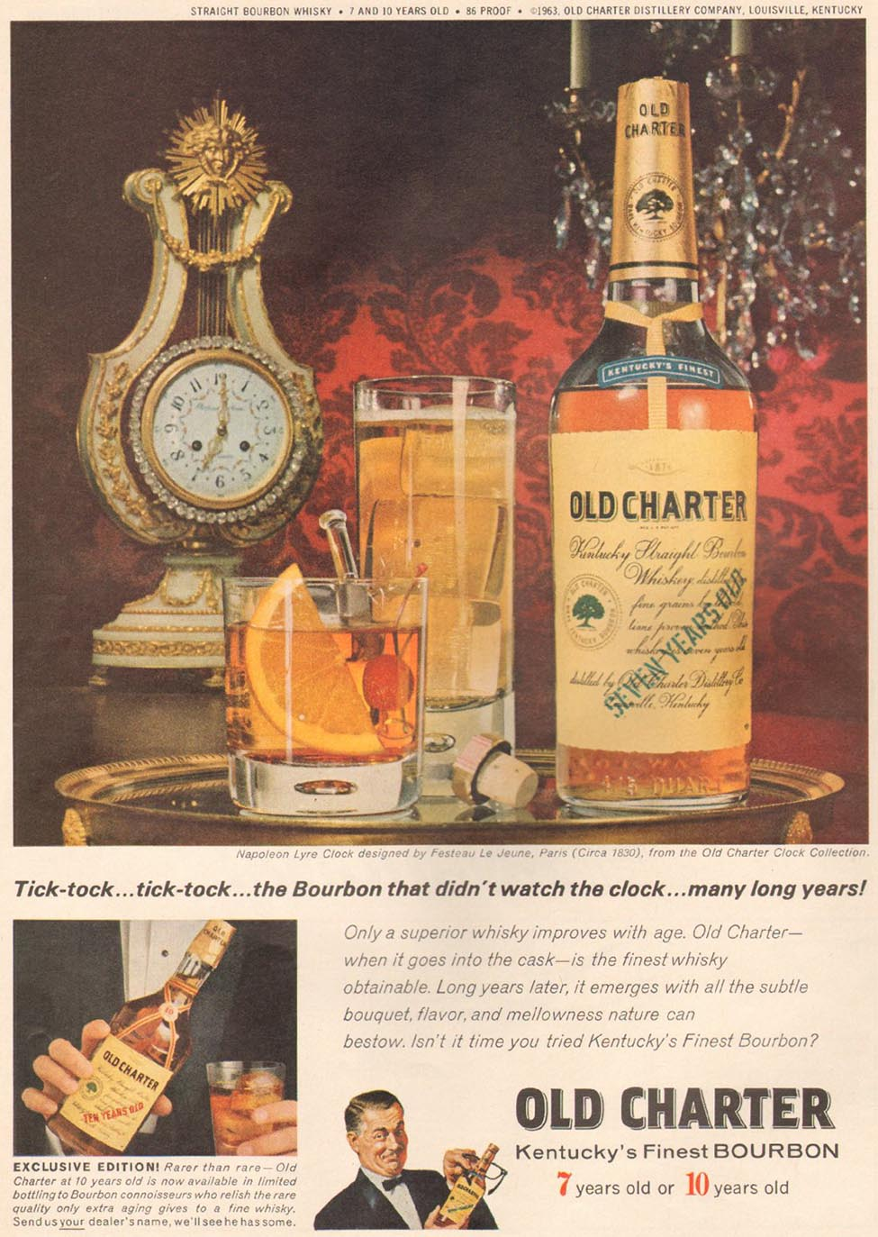 OLD CHARTER BOURBON TIME 02/08/1963 p. 88