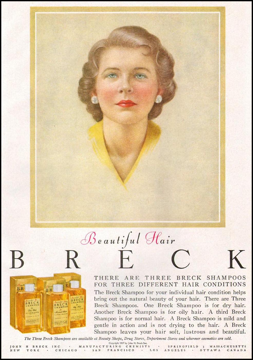 BRECK SHAMPOO GOOD HOUSEKEEPING 05/01/1957 p. 169