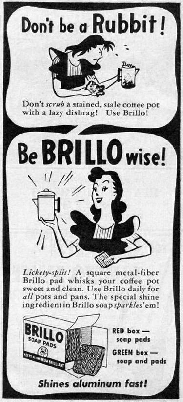BRILLO SOAP PADS WOMAN'S DAY 01/01/1947 p. 65