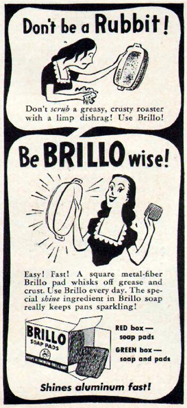 BRILLO SOAP PADS WOMAN'S DAY 06/01/1947 p. 93