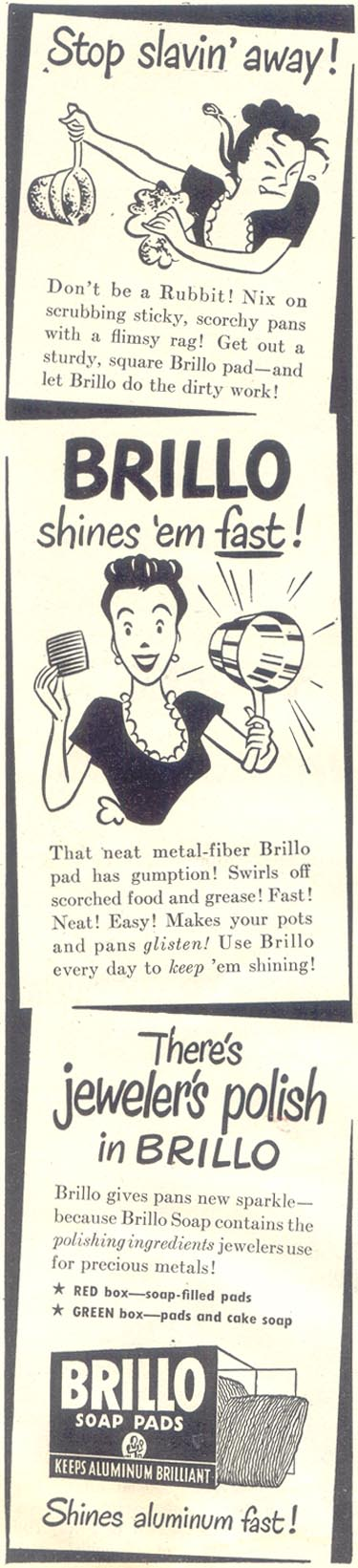 BRILLO SOAP PADS GOOD HOUSEKEEPING 07/01/1948 p. 8