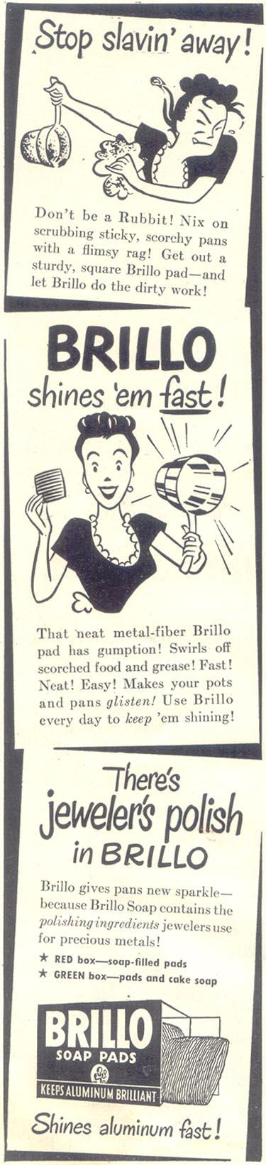 BRILLO SOAP PADS GOOD HOUSEKEEPING 07/01/1948 p. 8