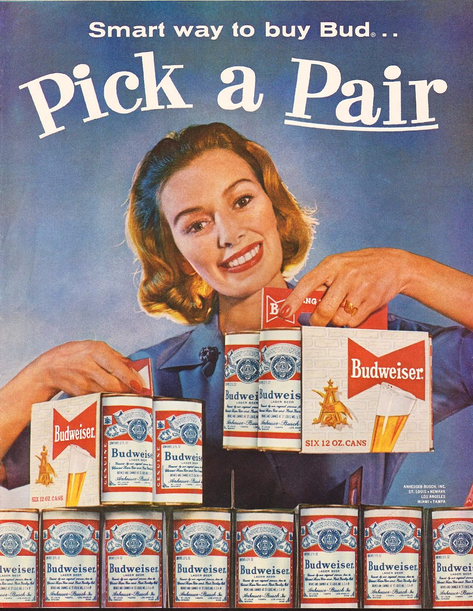 BUDWEISER BEER SATURDAY EVENING POST 06/04/1960 p. 73