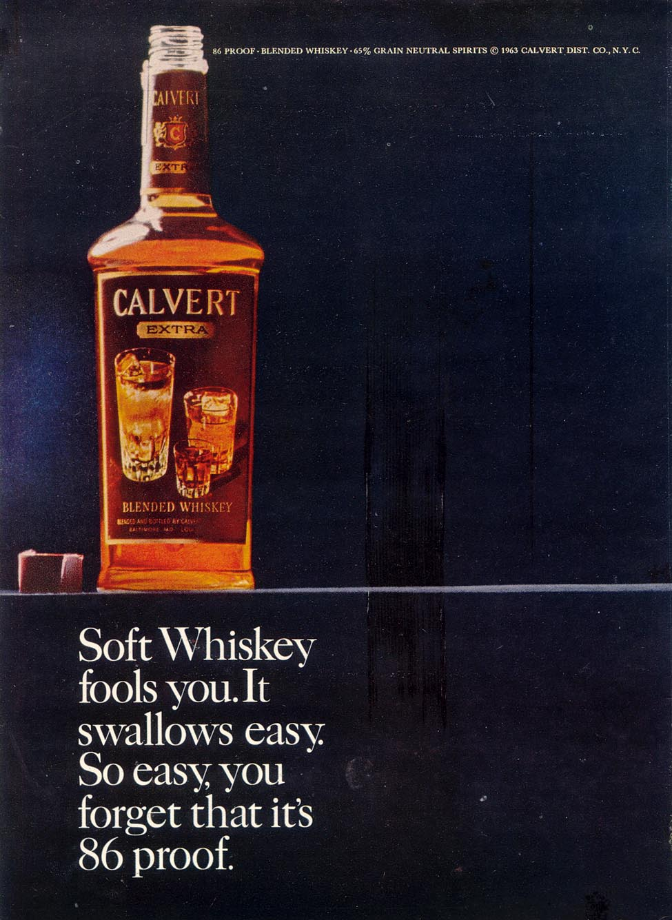 CALVERT EXTRA WHISKEY TIME 10/25/1963 p. 96