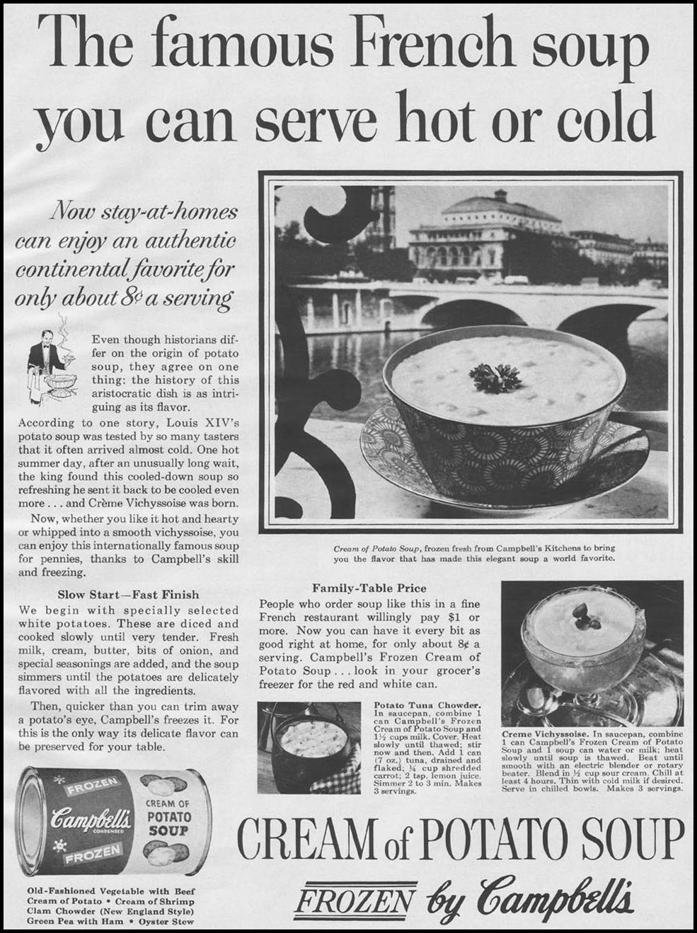 CAMPBELL'S CREAM OF POTATO SOUP BETTER HOMES AND GARDENS 03/01/1960 p. 119