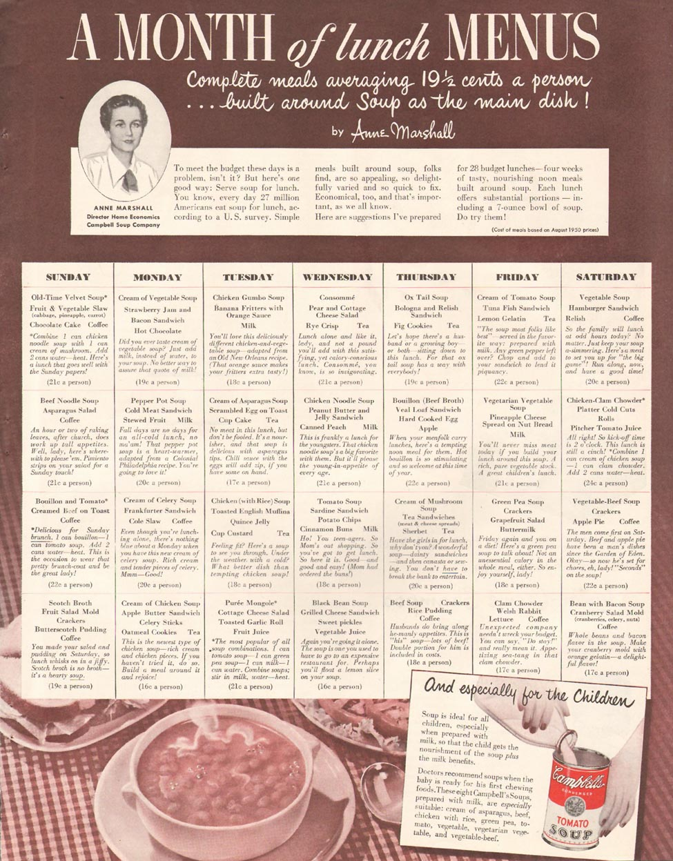 CAMPBELL'S SOUP LADIES' HOME JOURNAL 11/01/1950 p. 69