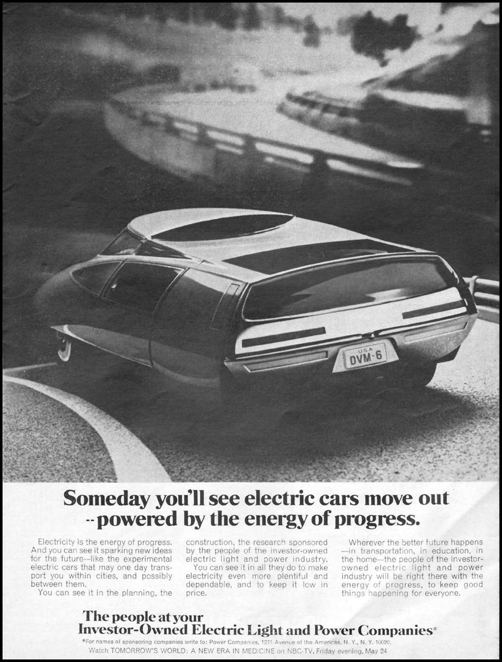 ELECTRIC CARS NEWSWEEK 05/20/1968 p. 1