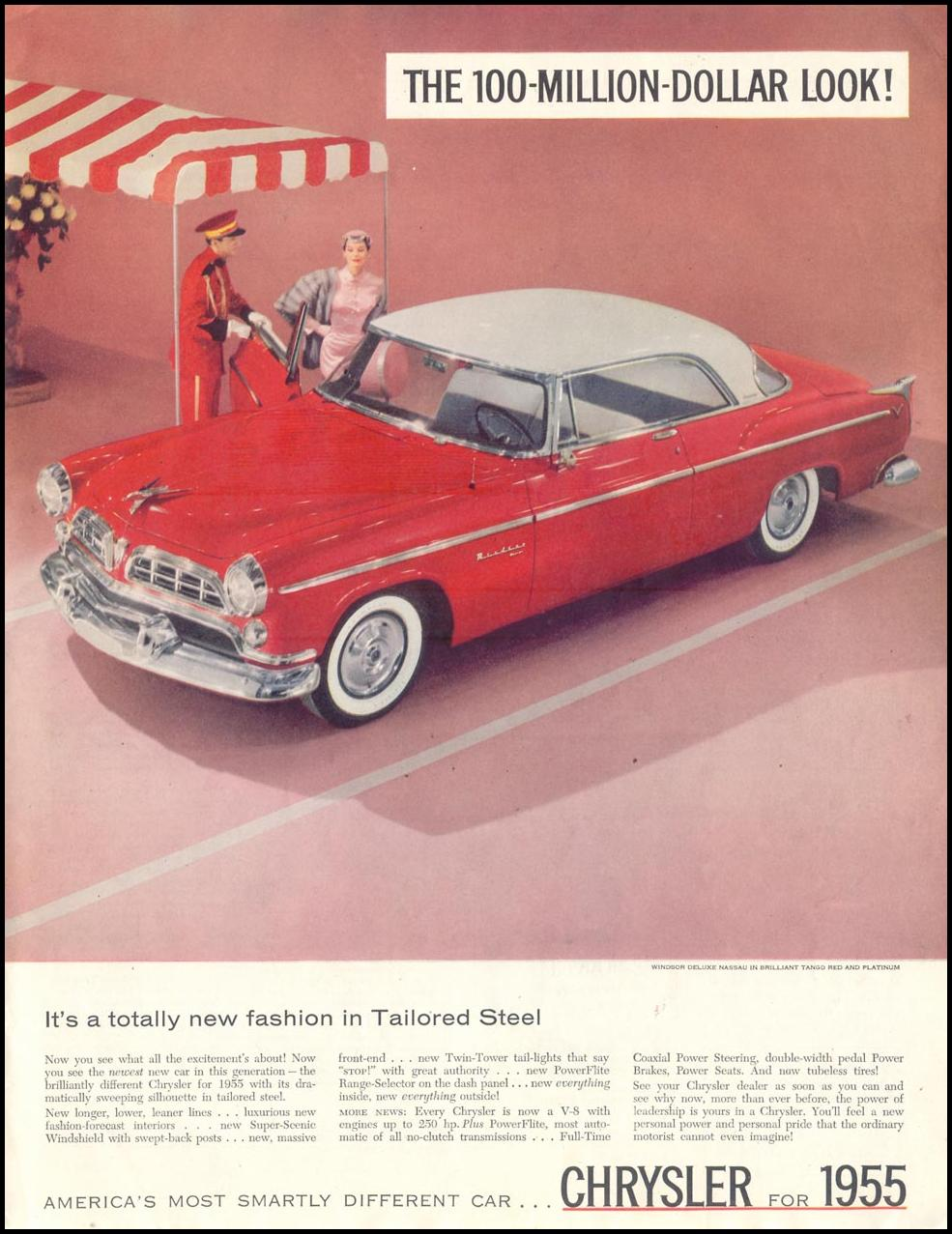 CHRYSLER AUTOMOBILES SATURDAY EVENING POST 01/08/1955 p. 5