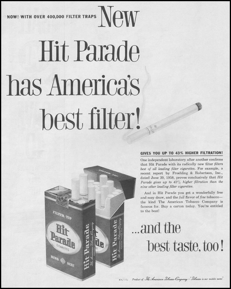 HIT PARADE CIGARETTES LIFE 09/15/1958 p. 38