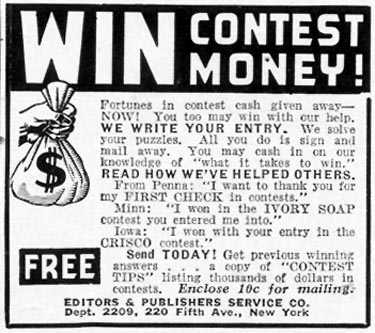 CONTEST TIPS WOMAN'S DAY 09/01/1940 p. 46