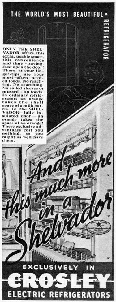 SHELVADOR ELECTRIC REFRIGERATORS BETTER HOMES AND GARDENS 05/01/1936 p. 113