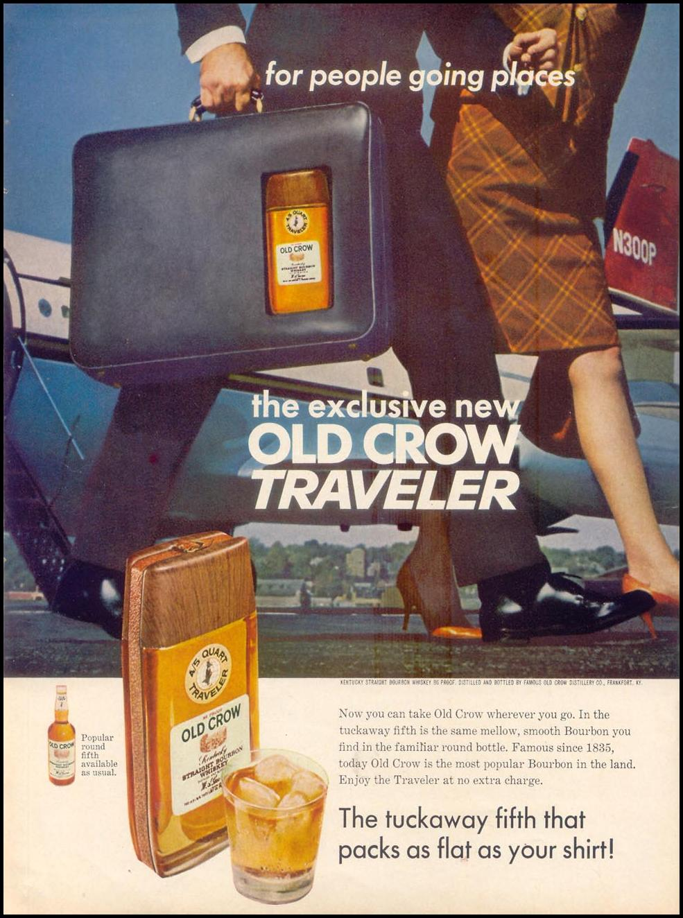 OLD CROW BOURBON WHISKEY TIME 04/21/1967 p. 96