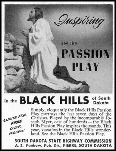 BLACK HILLS PASSION PLAY SATURDAY EVENING POST 06/04/1955 p. 106