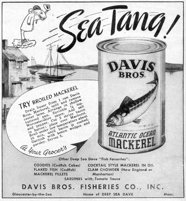 DAVIS BROS. ATLANTIC OCEAN MACKEREL WOMAN'S DAY 10/01/1948 p. 131
