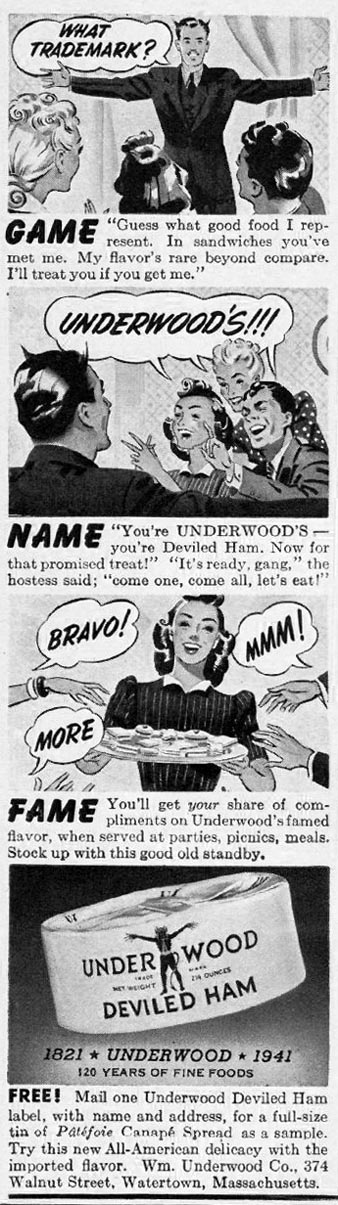 UNDERWOOD DEVILED HAM LIFE 08/05/1941 p. 80