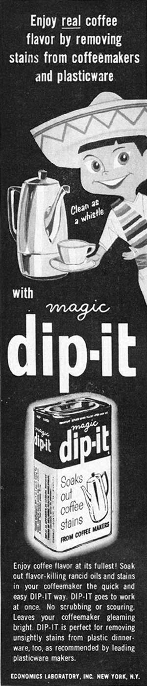 DIP-IT COFFEE MAKER CLEANER BETTER HOMES AND GARDENS 03/01/1960 p. 104