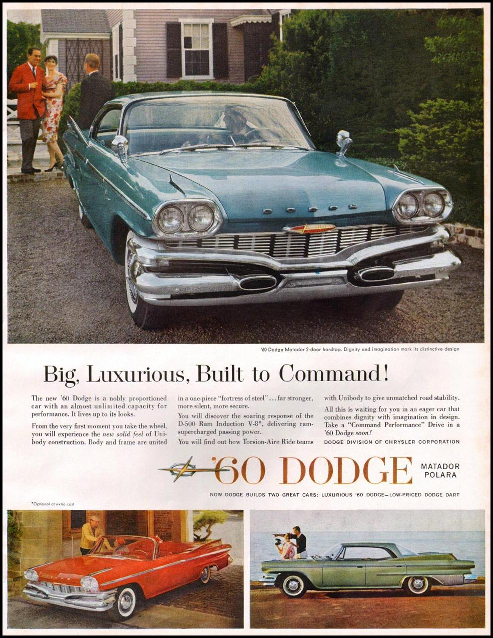 DODGE AUTOMOBILES BETTER HOMES AND GARDENS 03/01/1960 p. 49