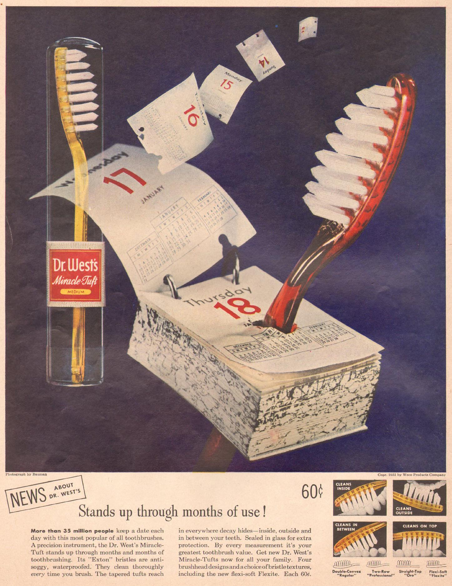 DR. WEST'S MIRACLE-TUFT TOOTHBRUSH LIFE 10/01/1951
