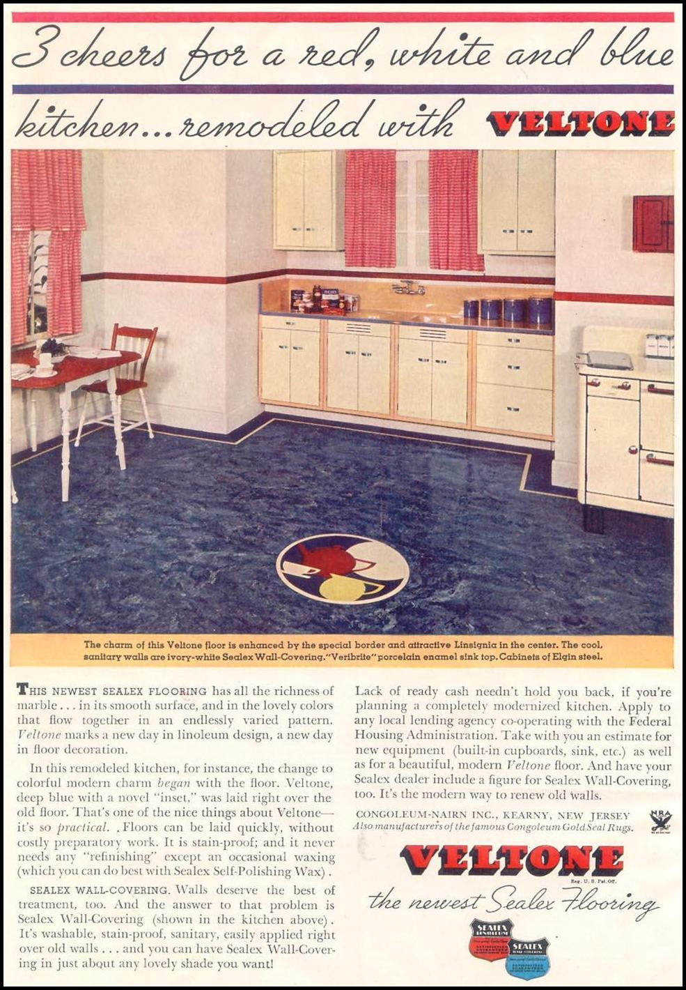 VELTONE SEALTEX FLOORS GOOD HOUSEKEEPING 03/01/1935