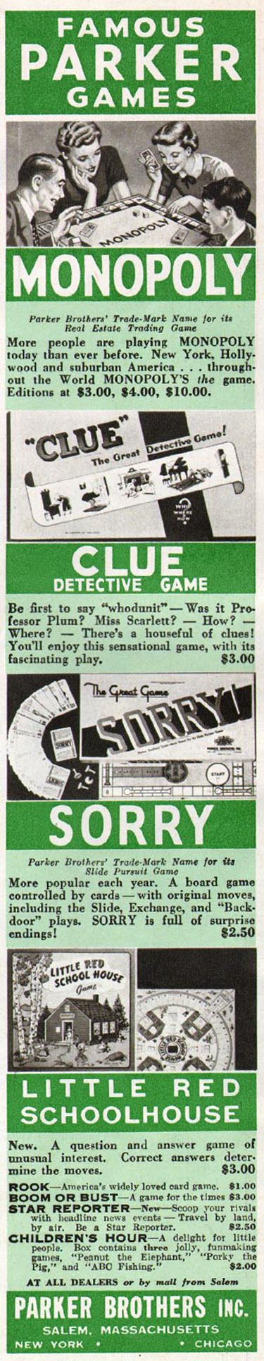 MONOPOLY WOMAN'S HOME COMPANION 12/01/1952 p. 99