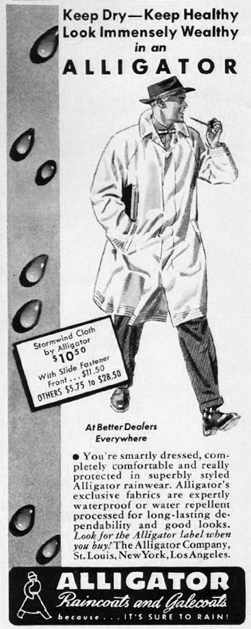 ALLIGATOR RAINCOATS AND GALECOATS LIFE 04/28/1941 p. 8