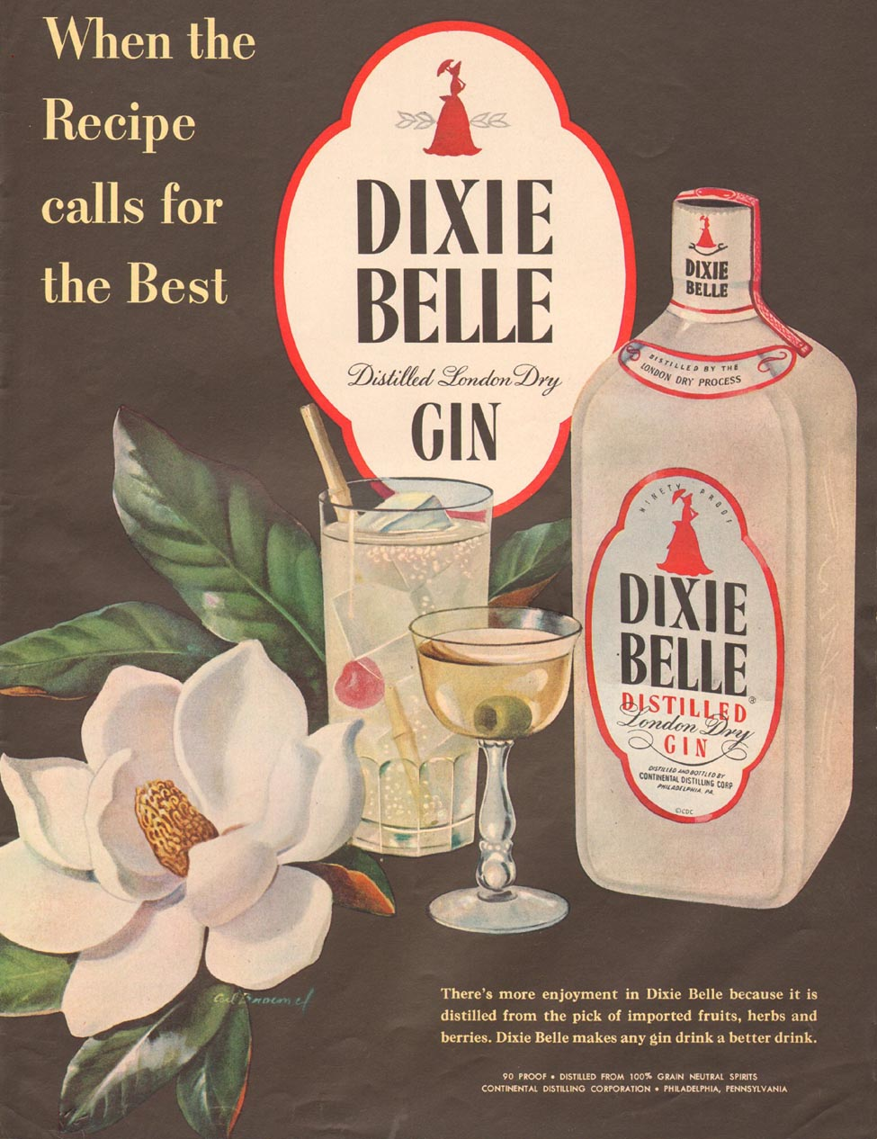 DIXIE BELLE DISTILLED GIN LIFE 04/30/1951 p. 83