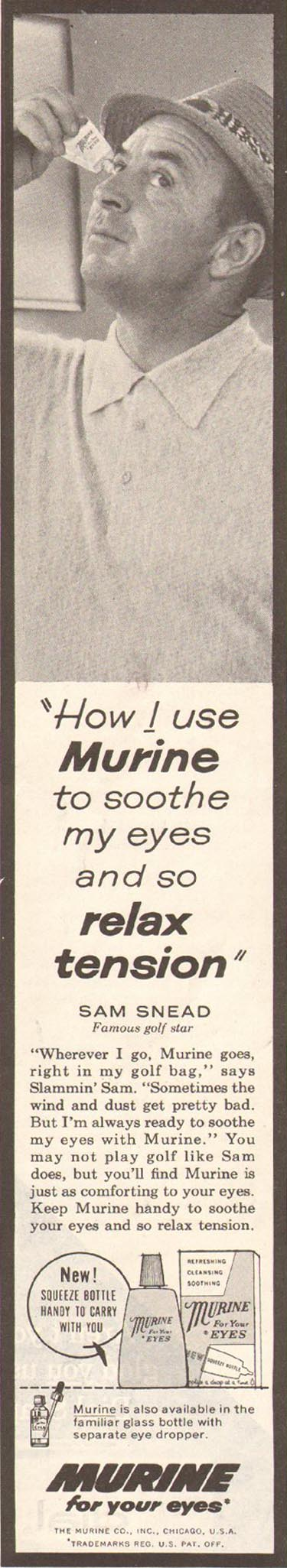 MURINE EYE DROPS SATURDAY EVENING POST 06/11/1960 p. 58