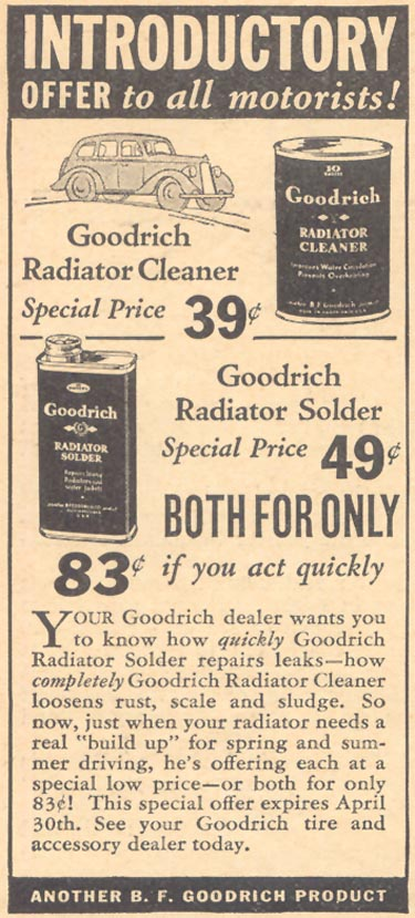 GOODRICH RADIATOR CLEANER LIBERTY 04/11/1936 p. 52