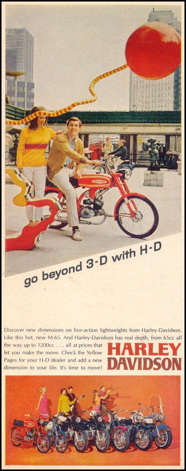 HARLEY-DAVIDSON MOTORCYCLES LIFE 05/19/1967 p. 12