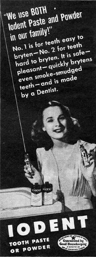 IODENT TOOTHPASTE LIFE 06/04/1945 p. 16
