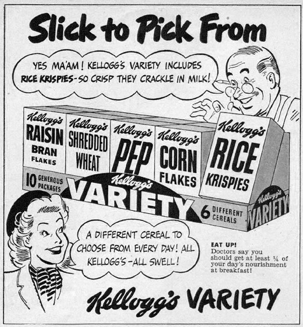 KELLOGG'S CEREALS WOMAN'S DAY 06/01/1947 p. 93