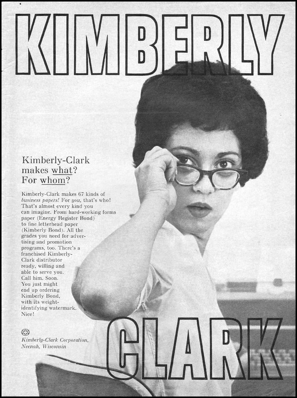 KIMBERLY BOND PAPER NEWSWEEK 10/12/1964 p. 121