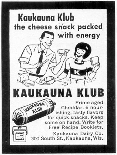 KAUKAUNA KLUB CHEESE WOMAN'S DAY 10/01/1954 p. 173