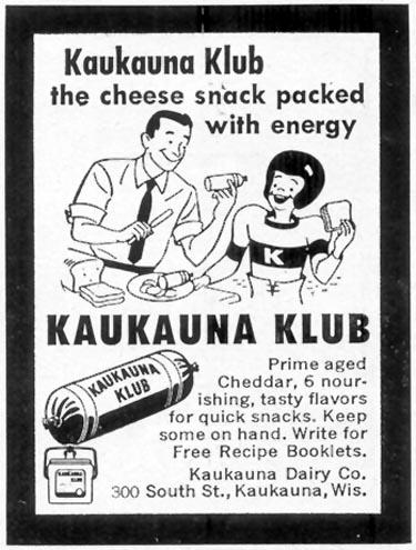 KAUKAUNA KLUB CHEESE WOMAN'S DAY 10/01/1954 p. 173
