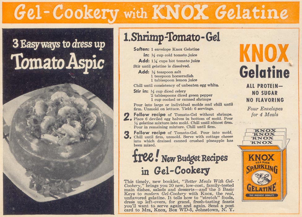KNOX GELATINE WOMAN'S DAY 10/01/1948 p. 139