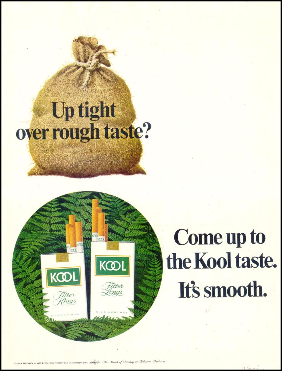 KOOL CIGARETTES SATURDAY EVENING POST 01/25/1969 p. 65