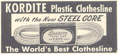KORDITE PLASTIC CLOTHESLINE GOOD HOUSEKEEPING 07/01/1948 p. 227