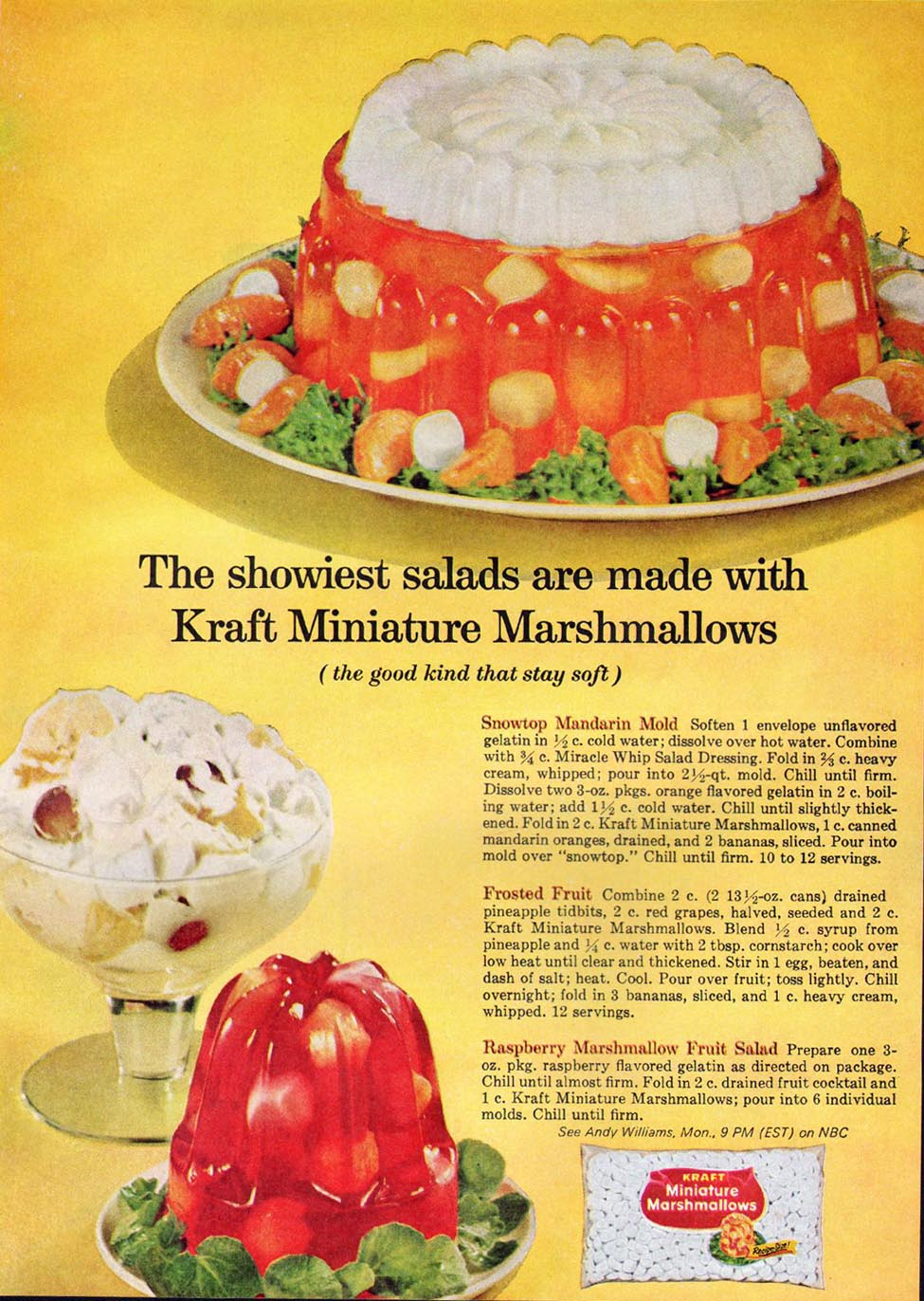 KRAFT MINIATURE MARSHMALLOWS GOOD HOUSEKEEPING 10/01/1965 p. 183