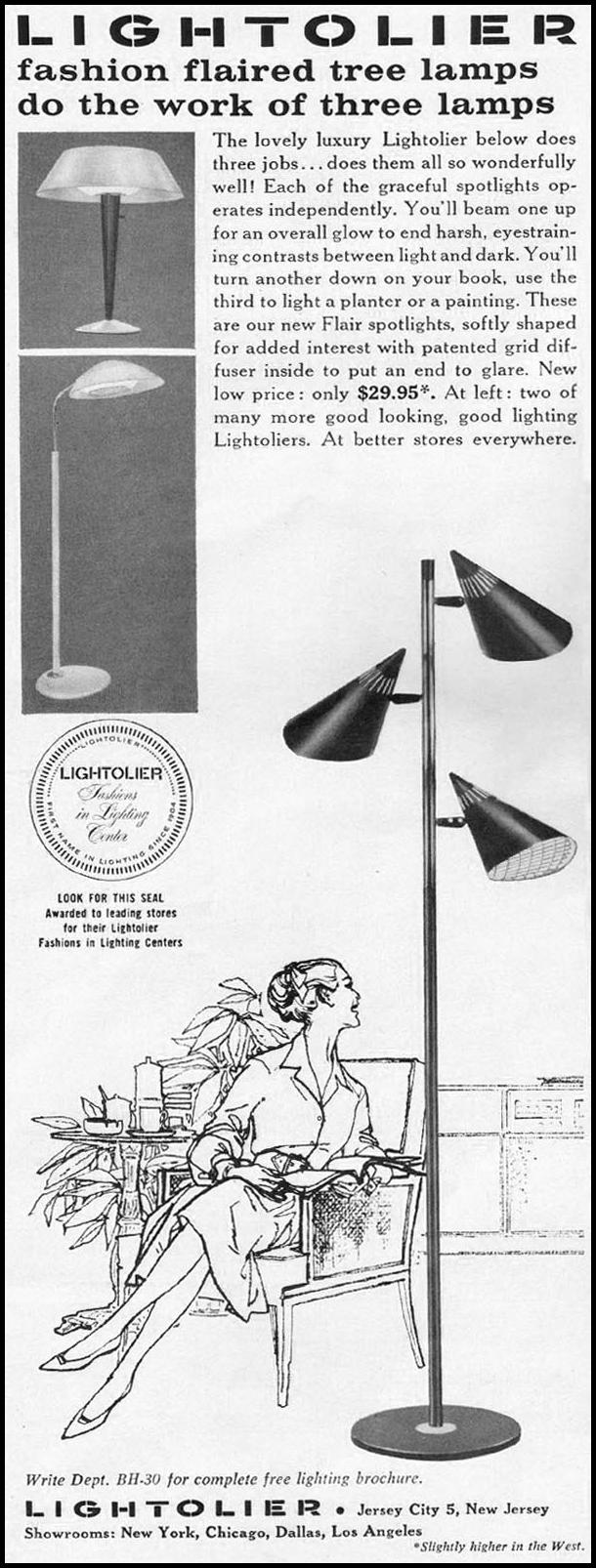 LIGHTOLIER LIGHTING BETTER HOMES AND GARDENS 03/01/1960 p. 146
