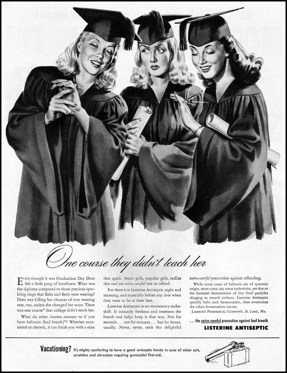 LISTERINE LADIES' HOME JOURNAL 07/01/1949 p. 9